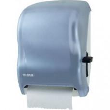 Диспенсер для рул.полотенец настенный ручн.вытяжка 419х329х235мм пластик, голубой