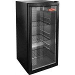 Шкаф холодильный д/напитков (минибар), 92л, 1 дверь стекло, 3 полки, ножки, +8/+14С, стат.охл., черный