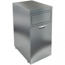 Модуль барный нейтральный для мусорного бака, 400х500х850мм, без борта, 1 секция выдв., ножки, нерж.сталь, фартук-вертушка