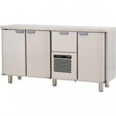 Модуль барный холодильный, 1660х550х900мм, без борта, 3 двери глухие+1 выд.секция, ножки 140мм, +5/+15С, нерж.сталь, агрегат центр.