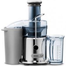 Соковыжималка д/овощей и фруктов, электрическая, настольная, центробежная, 2 скорости, стакан д/сока 1л, контейнер д/жмыха 2.6л, пластик серебристый