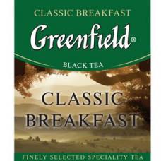 Чай черный пакетированный Greenfield Классик Брекфаст, 1000шт (10х100пак)