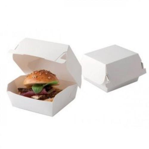 Коробка для гамбургера 120x120x70мм бумага белая, 500шт