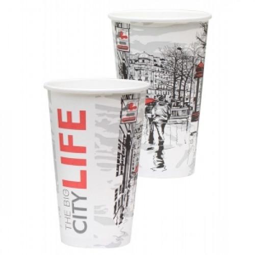 Стакан для горячих напитков Big City Life 400мл бумага
