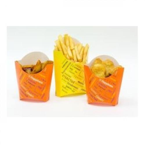 Коробка для картофеля фри 68x32x100мм Fiesta бумага