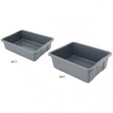 Контейнер для грязной посуды L 54,6см w 43,5см h 17,8см, платик серый