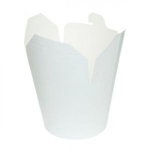 Контейнер для азиатской кухни 900мл белый картон
