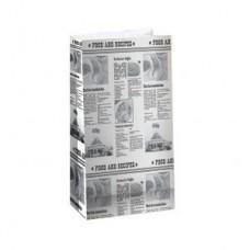 Пакет 220х140х80мм ГАЗЕТА прямоугольное дно бумага