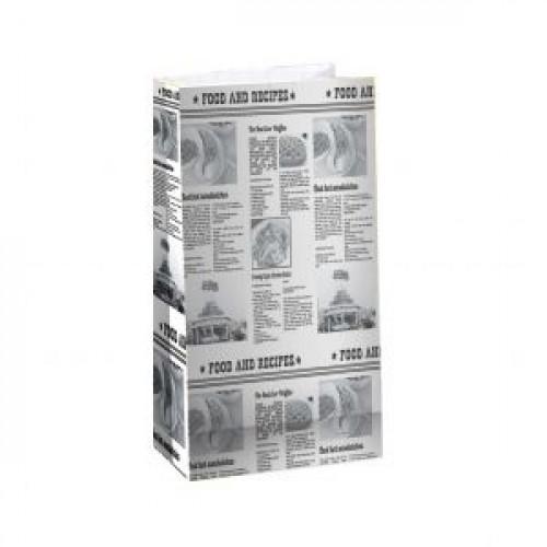 Пакет 250х190х100мм ГАЗЕТА прямоугольное дно бумага