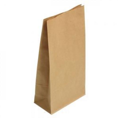 Пакет 210х105х60мм прямоугольное дно бумага крафт