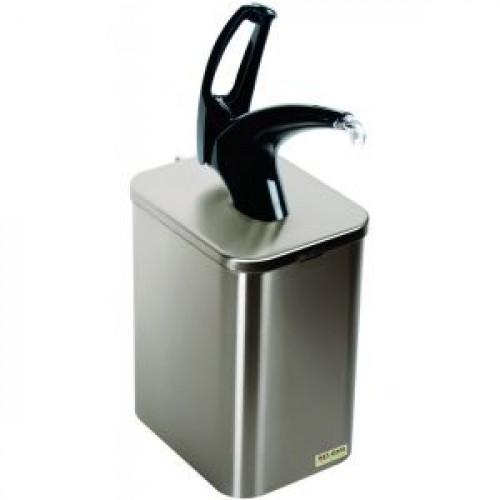 Дозатор д/густых соусов, порция 30мл, объём 3.78л, настольный, насос из чёрного пластика, универсальный