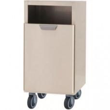 Модуль барный нейтральный для мусора, 400х550х900мм, без столешницы, 1 ящик выдв., ролики, нерж.сталь