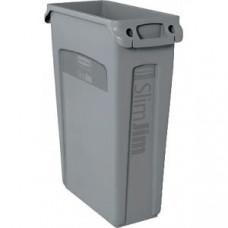Контейнер для мусора SLIM JIM 60л с ручками с вентиляционной системой, полиэтилен серый