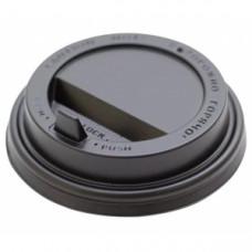 Крышка для стакана 200мл D 80мм пластик черный с носиком