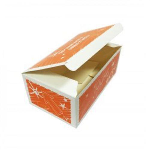 Коробка для наггетсов 195х115х80мм 100% вкус бумага