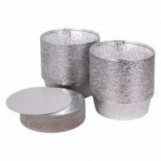 Крышка для круглого контейнера 1400мл алюминий