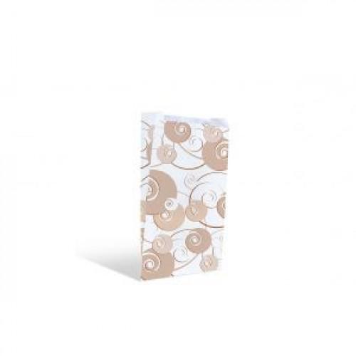 Пакет 250х140х60мм плоское дно бумага с дизайном