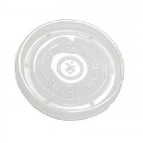 Крышка для контейнера D 90мм плоская пластик прозрачная