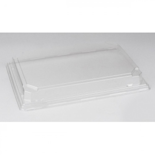 Крышка для контейнера 188х134х25мм ПЭТ прозрачный