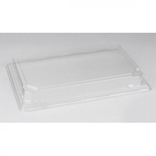 Крышка для контейнера 242х168х25мм ПЭТ прозрачный