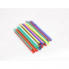 Трубочки для напитков с гофрой D 8мм L 240мм пластик цветные