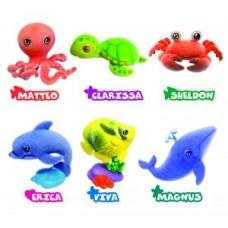 Игрушки-животные МОРСКОЙ МИР пластик с текстильным напылением