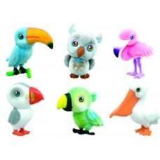 Игрушки-животные НА КРЫЛЬЯХ пластик с текстильным напылением