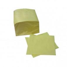 Салфетки 24x24см бумага желтые