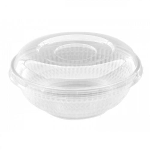 Крышка для салатного контейнера 750мл ПС прозрачный