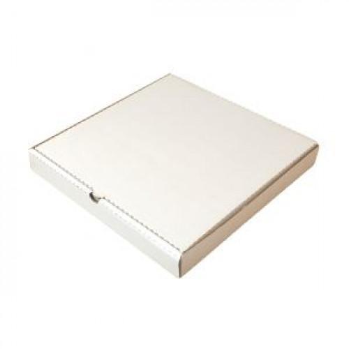 Коробка для пиццы 300х300х40мм картон белый