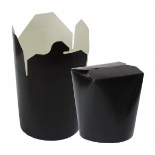 Контейнер для азиатской кухни 500мл чёрный картон