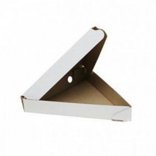 Коробка для пиццы треугольная 260х260х260x40мм картон белый
