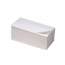 Полотенца бумажные V-сложение 1-слойные 23х22см целлюлоза белые