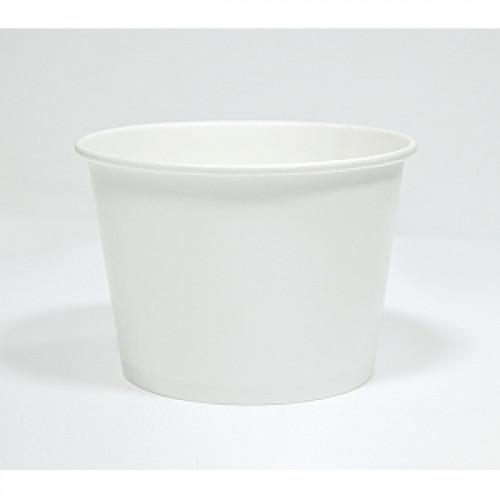 Контейнер c круглым дном 960мл D 136мм белый бумага