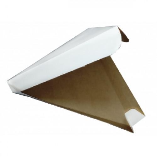 Коробка для пиццы треугольная 260х260х240x40мм