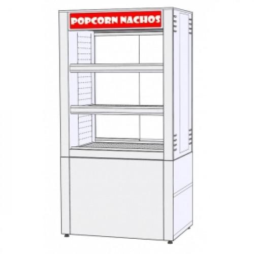 Витрина для попкорна, конвекция, 3 полки, L1.00м