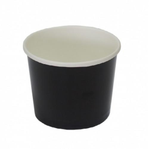 Контейнер c круглым дном 300мл D 90мм чёрный бумага
