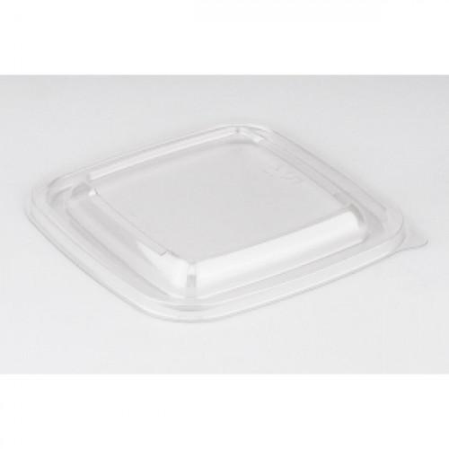 Крышка для квадратных контейнеров 126х126мм ПЭТ прозрачный