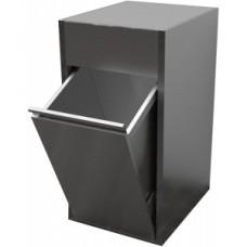 Модуль барный нейтральный для мусора, 400х600х700мм, без борта, закрытый, 1 бак откидной 90л, нерж.сталь 430, фартук