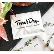 Салфетка одноразовая гигиеническая в индивидуальной упаковке Freshday БЕЛАЯ