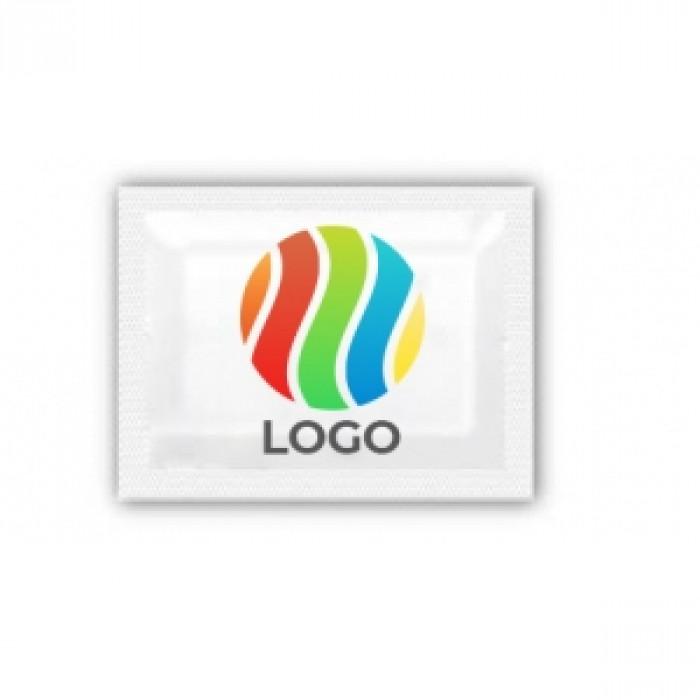Салфетки влажные в индивидуальной упаковке с логотипом
