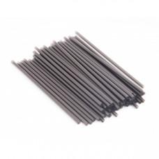 Трубочки для напитков прямые D 8мм L 240мм пластик черные