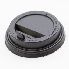 Крышка для стакана 400мл и 300мл D 90мм пластик черный с носиком