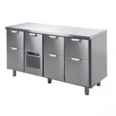 Модуль барный холодильный, 1660х550х900мм, без борта, 7 выд.секций, ножки 140мм, +5/+15С, нерж.сталь, агрегат центр.
