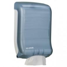 Диспенсер для лист.полотенец, настенный, 475x298x159мм, пластик, голубой