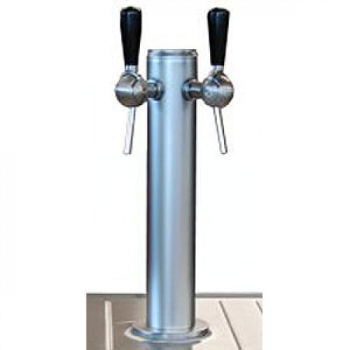 Колонка пивная, 2 крана, нерж.сталь, для RO-BS 900 4F 1DX