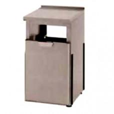 Модуль барный нейтральный для мусора, 400х550х900мм, борт H40мм, 1 ящик выдв., ножки 140мм, нерж.сталь