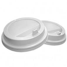 Крышка для стакана 400мл и 300мл D 90мм пластик белый с носиком
