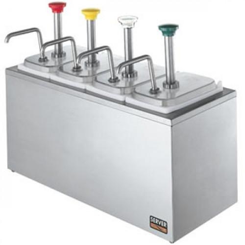 Дозатор д/соусов, 4 дозатора, термоиз.корпус, цветн. ручки