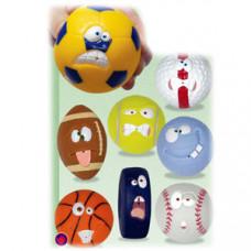 Игрушка-мячик СПОРТ пластик, 120шт (8шт в коллекции)
